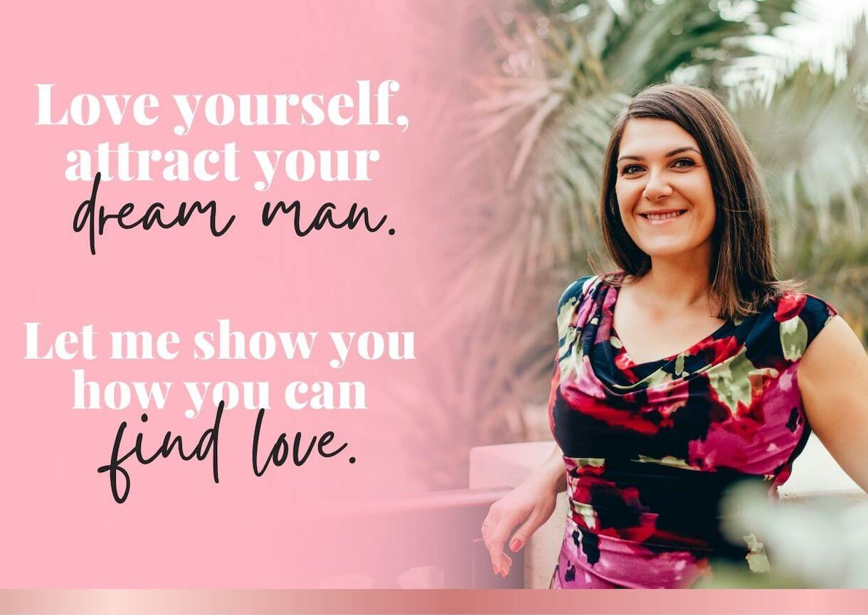 Love yourself, find your dream man, love and relationship coach header image mobile